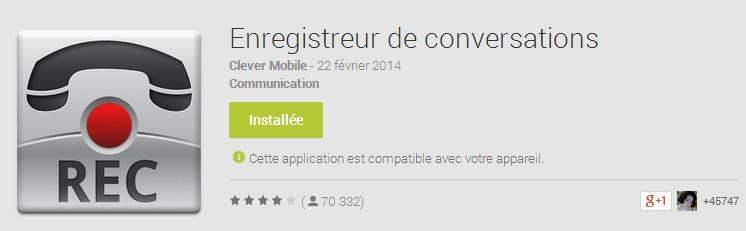 Enregistrer une conversation téléphonique sur Android
