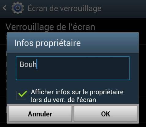 Afficher des infos sur l'écran de verrouillage Android