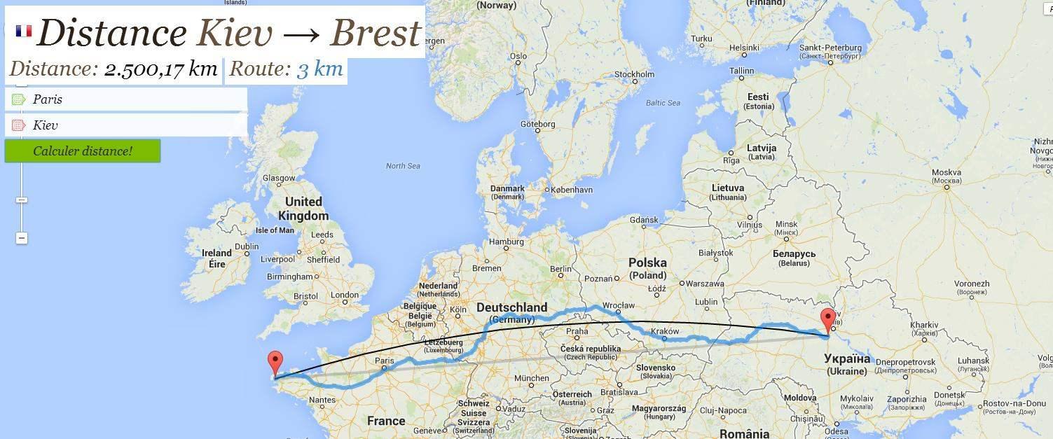 La Distance Entre  Villes
