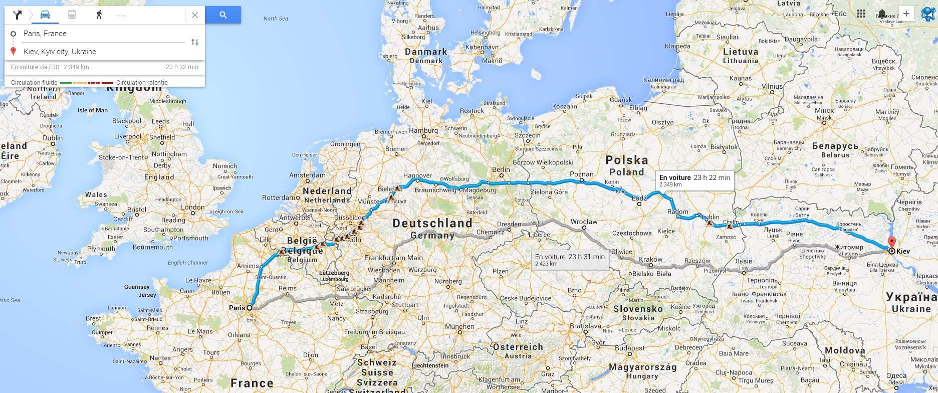 La Distance Entre Deux Villes Carte