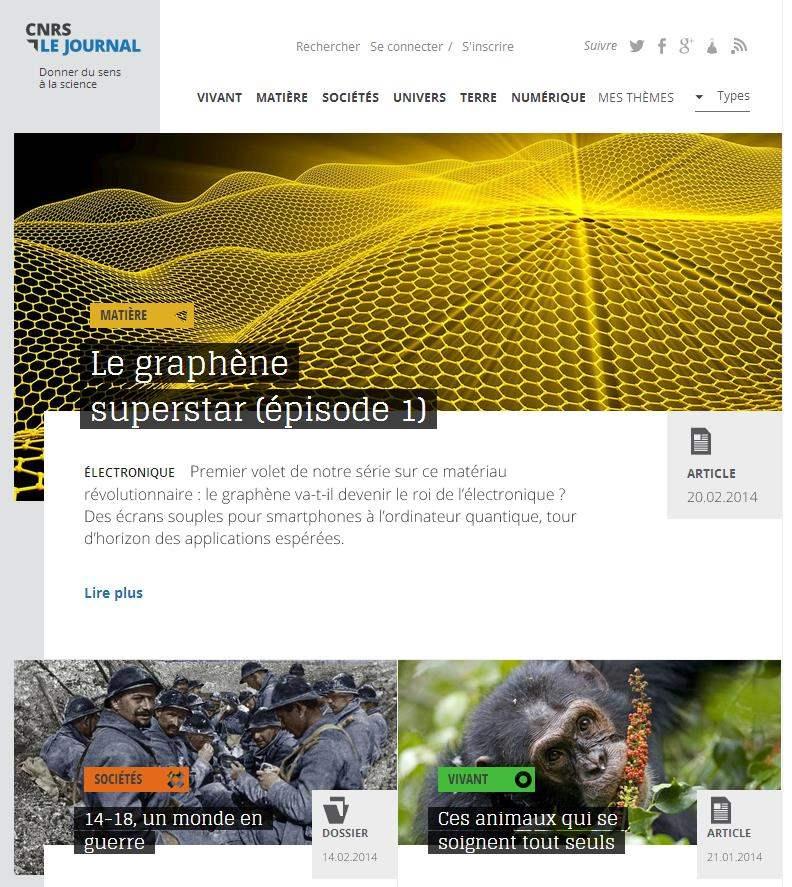 Un site grand public pour le CNRS, Le Journal