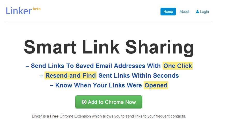 Envoyer d'un clic un lien par mail, Linker