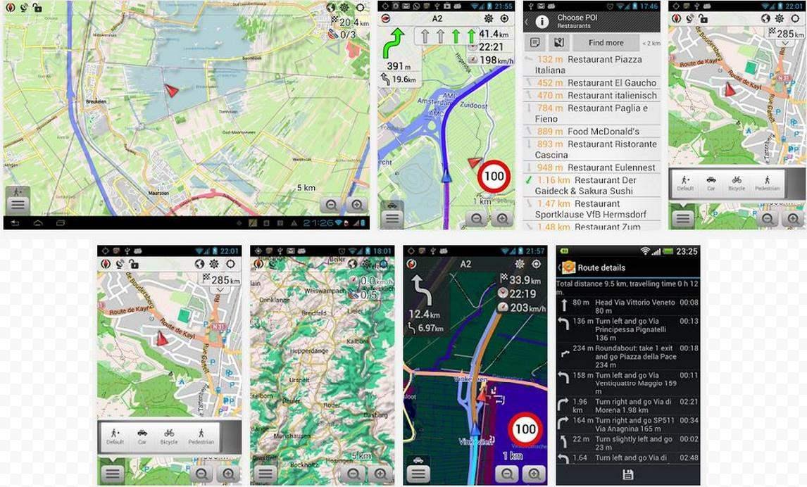Cartographie et navigation hors ligne pour Android, OsmAnd