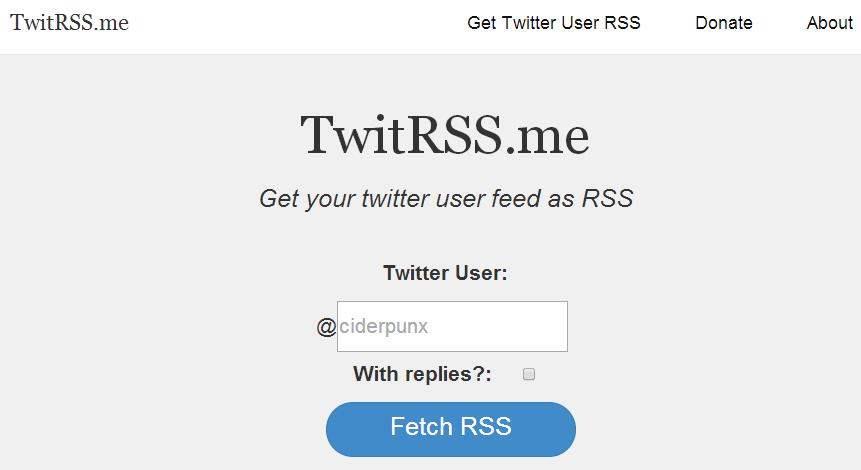 2 services pour récupérer des flux RSS de Twitter