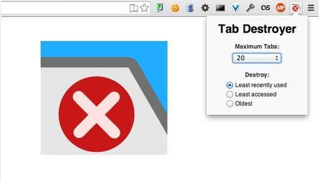 Fermeture automatique d'onglets dans Chrome, xTab