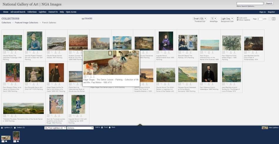 35 000 œuvres d'art à télécharger, NGA Images