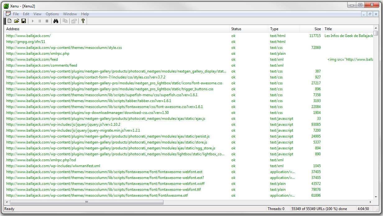 Un outil pour vérifier les liens d'un site Web