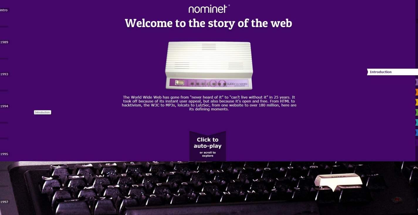 L'histoire du Web sur une timeline, Nominet