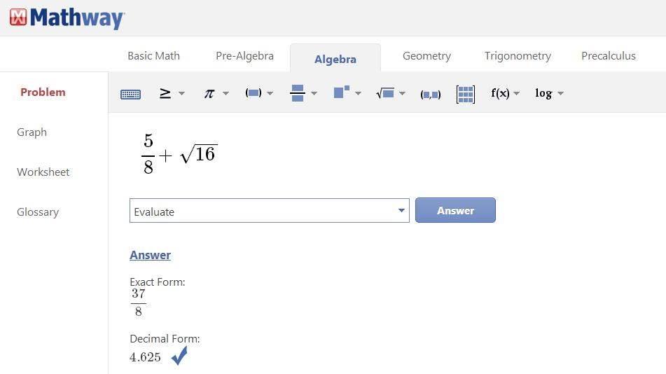 Faire des maths en ligne, Mathway