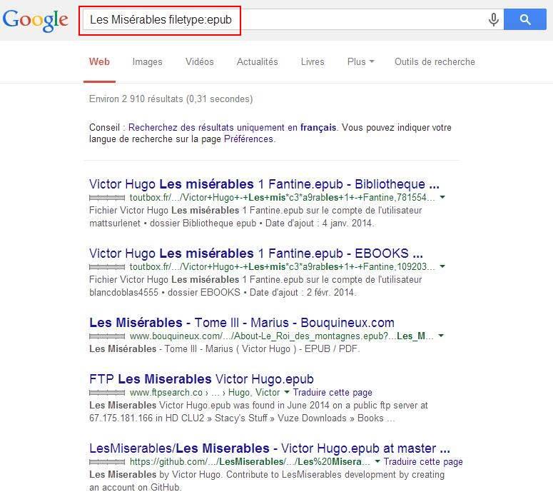 Rechercher et trouver des ebooks avec Google
