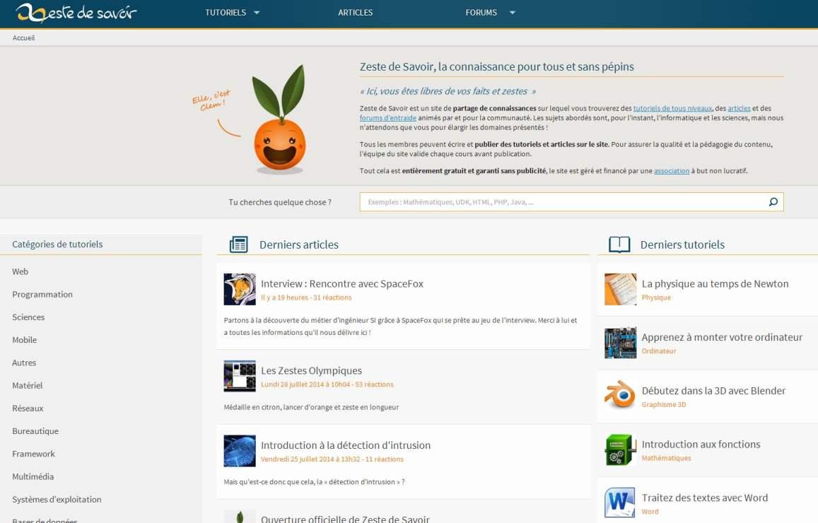Partage de connaissances en ligne, Zeste de savoir