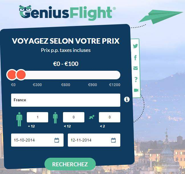 Voyager en avion sans exploser son budget, Genius Flight