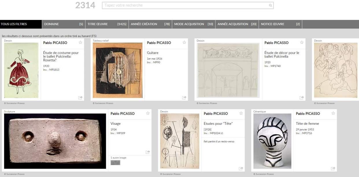 Visiter en ligne le Musée Picasso ?