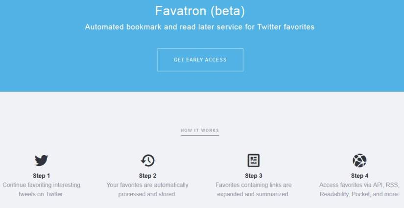 Une gestion des favoris Twitter, Favotron