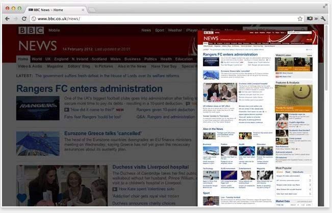 Capture d'écran intégrale d'une page Web, Blipshot