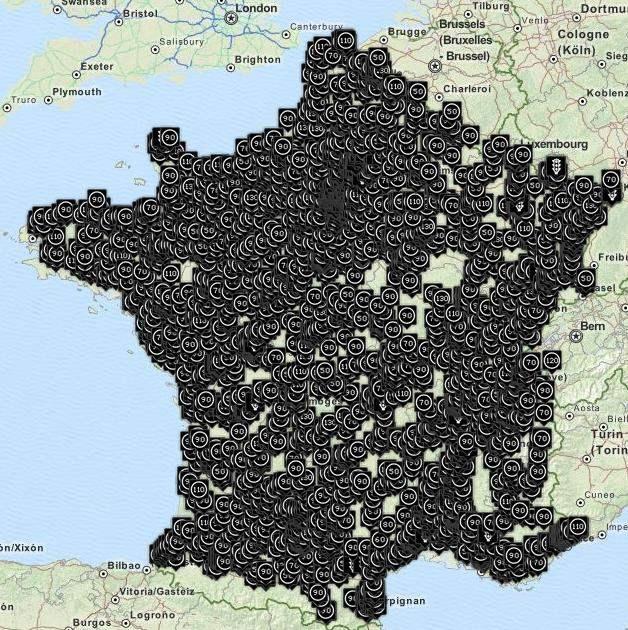 carte des radars en france Carte des radars en France