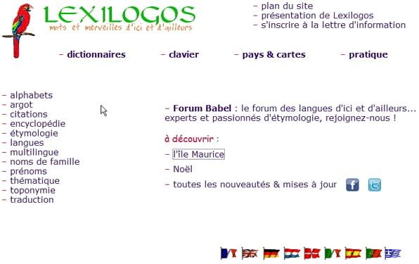 Des dictionnaires d'ici et d'ailleurs, Lexilogos