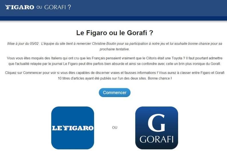 Figaro ou Gorafi, le jeu
