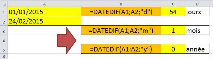 date cellule excel