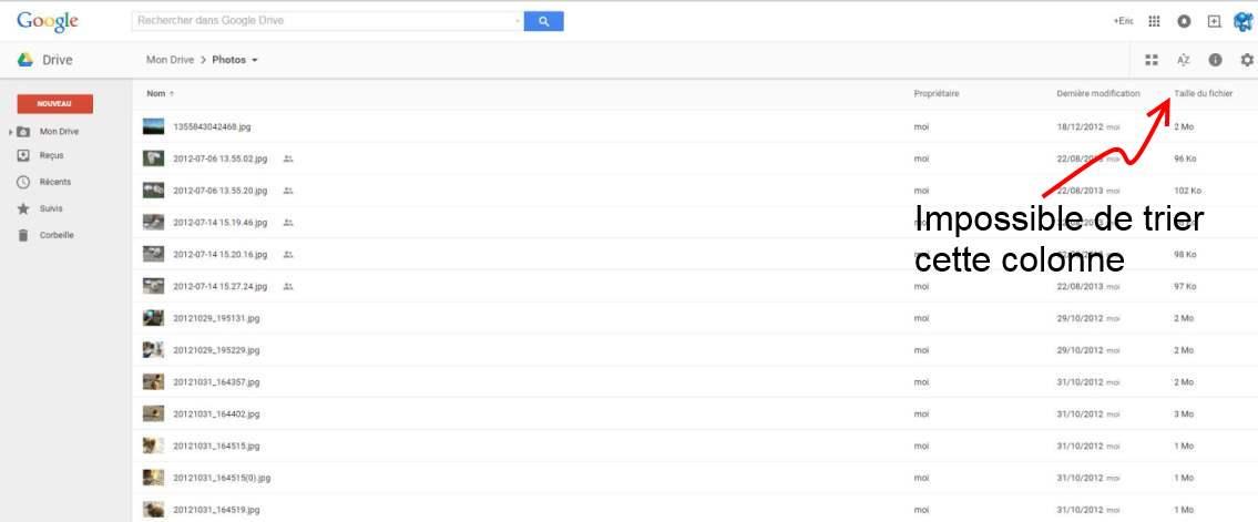 Comment trouver vos plus gros fichiers dans Google Drive