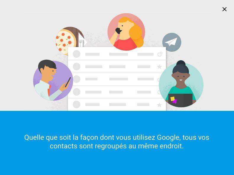 Essayer la nouvelle version de Google Contacts