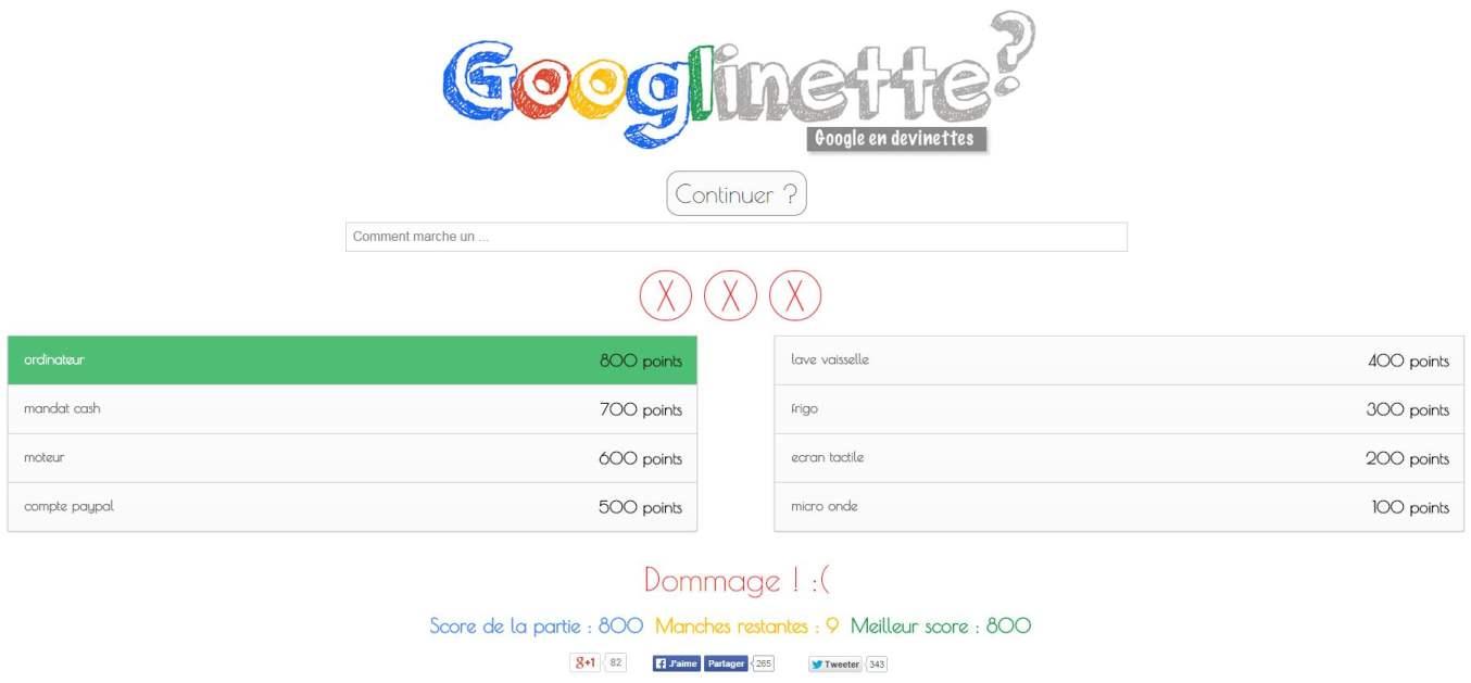 Jouer aux devinettes avec Google