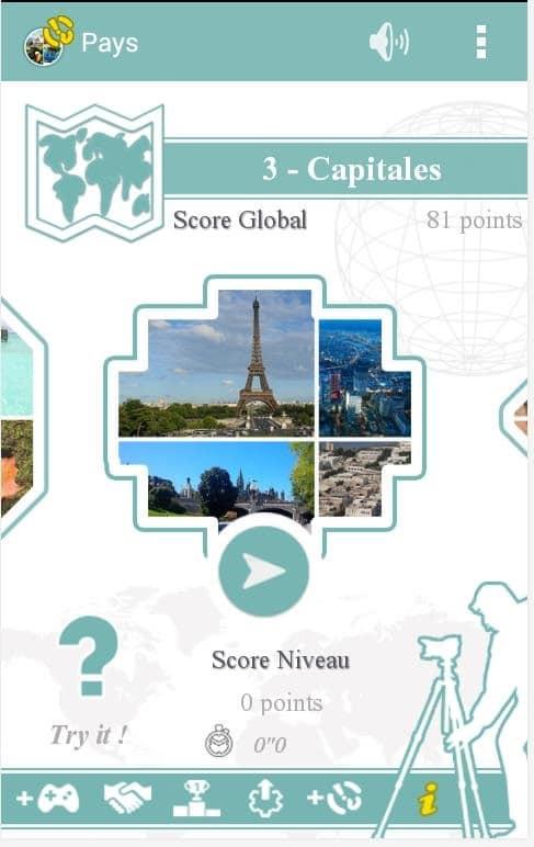 Un Quiz pour Android tout en images sur les pays du monde