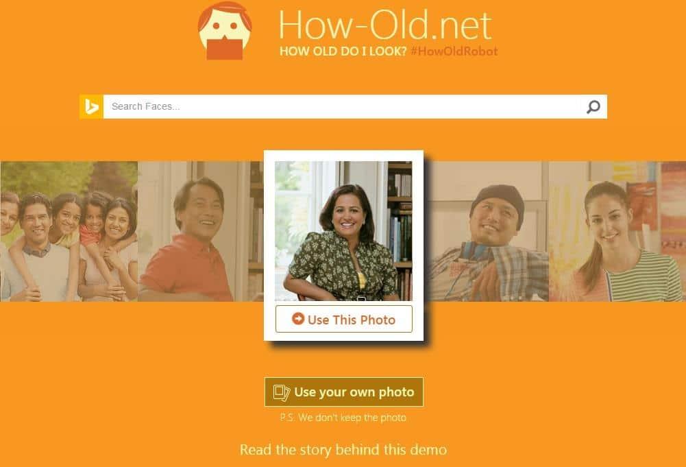 Déterminer l'âge d'une personne sur une photo, How-Old