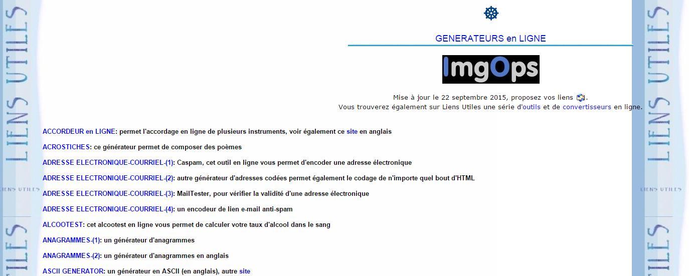 Un annuaire d'applications à utiliser en ligne