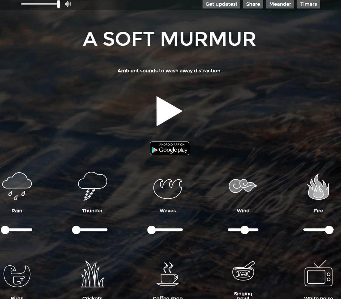 Création d'une ambiance sonore personnalisée, A Soft Murmur