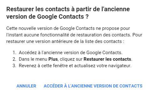 Comment restaurer des contacts supprimés dans Gmail