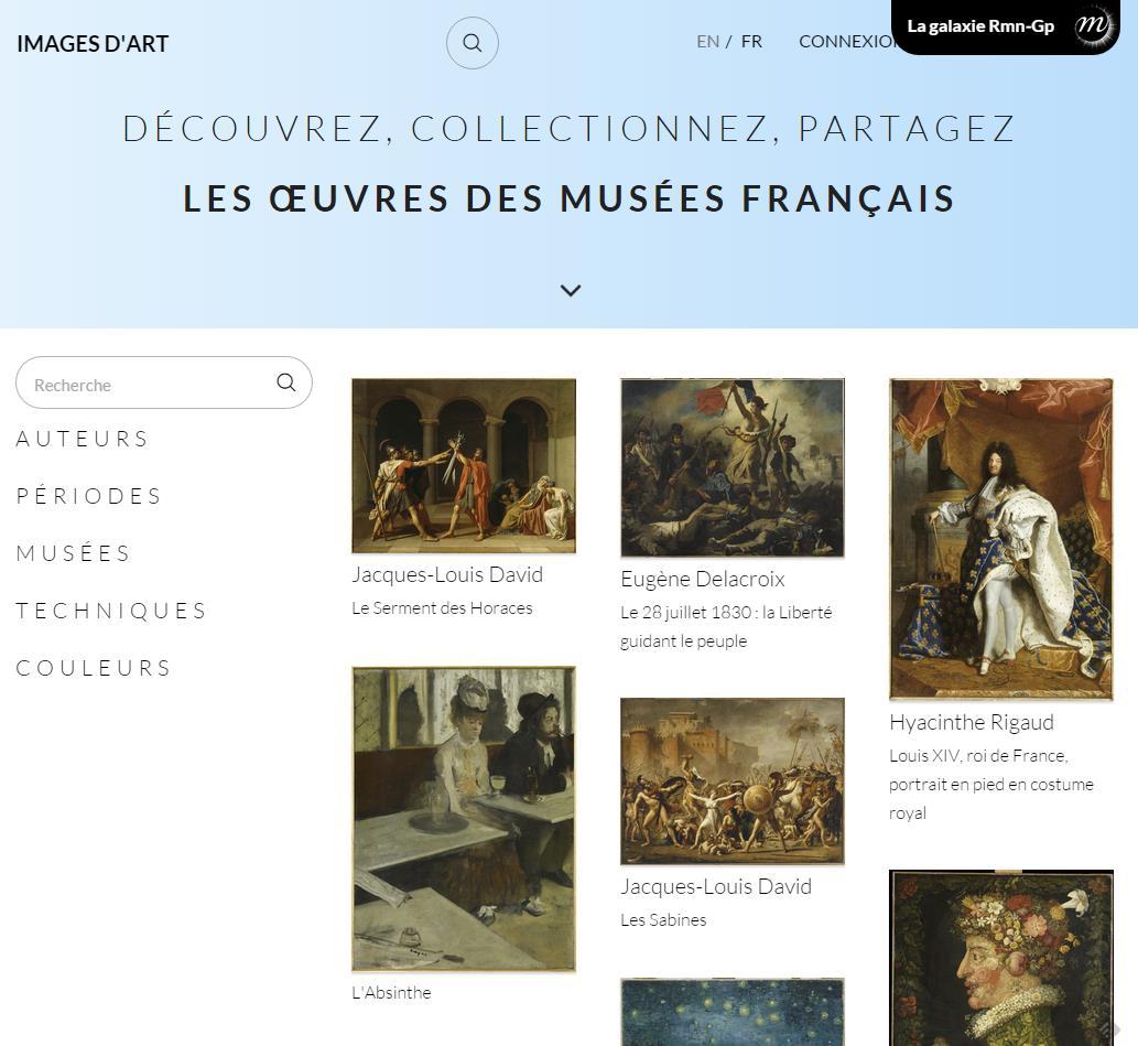 Collectionner gratuitement des œuvres d'art, Images d'art