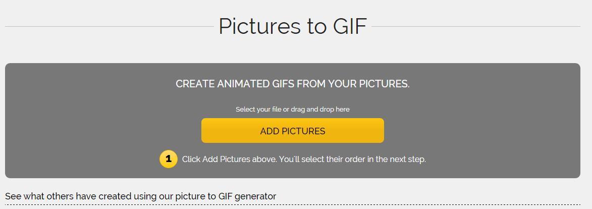 Fabriquer une image GIF animée à partir de quelques images
