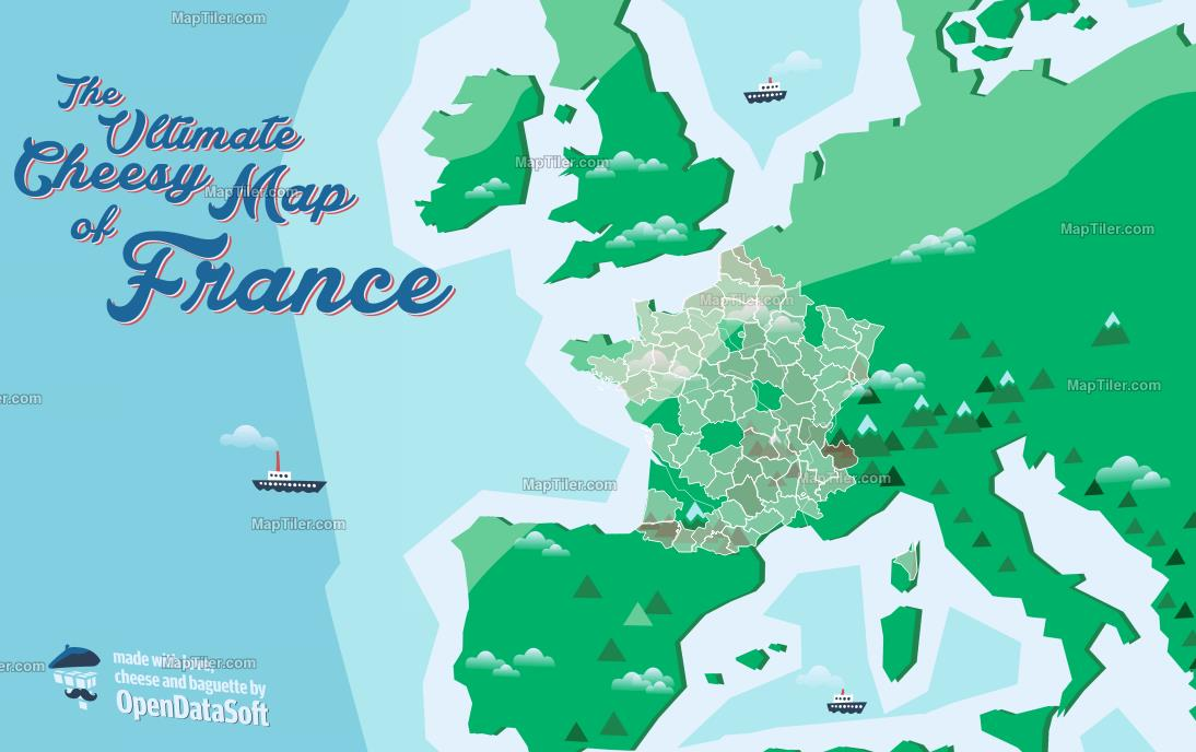 La carte de France des fromages