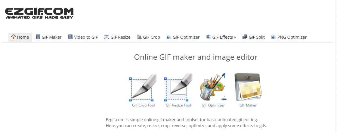 Une boîte à outils pour tout faire avec les GIFs, ezGIF