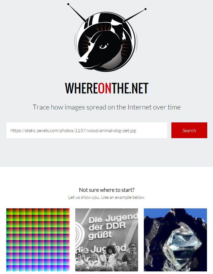 Propagation d'une image sur le Web, WhereOnThe.Net