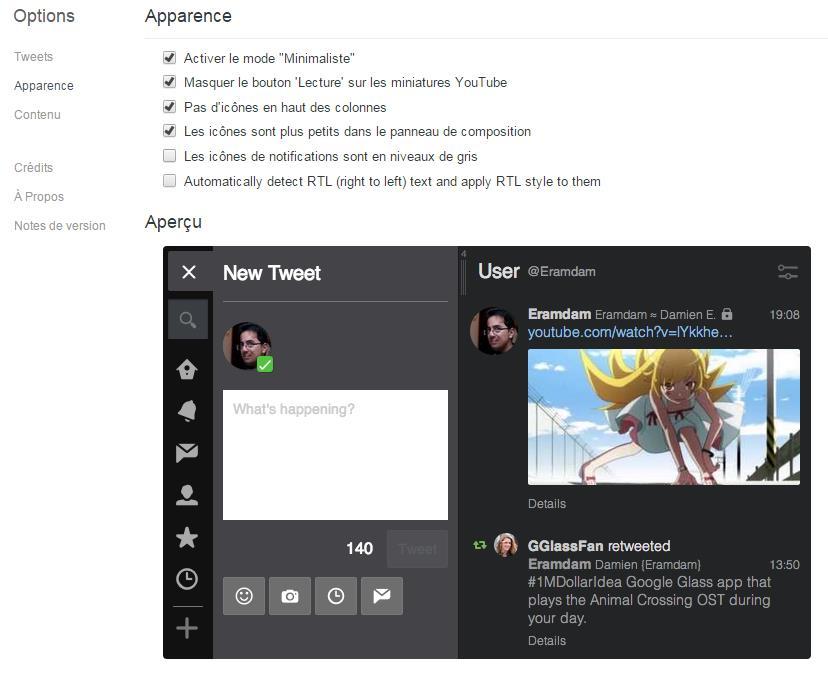 Amélioration de TweetDeck avec Better TweetDeck