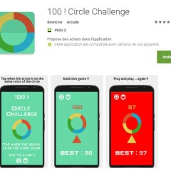 Un jeu de réflexe pour Android, 100 ! Circle challenge