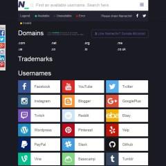 Trouver un nom disponible partout sur Internet, Namechk