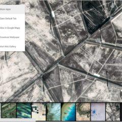 Des photos satellites en page nouvel onglet dans Chrome