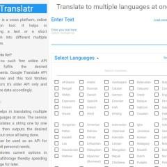 Traduction d'un même texte en plusieurs langues, Translatr