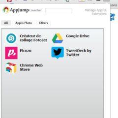Organisation et lancement des applications dans Chrome