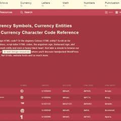 Le site Web de tous les symboles HTML