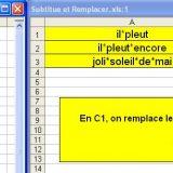 Deux fonctions Excel pour remplacer un texte par un autre