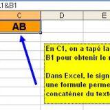 La concaténation dans Excel