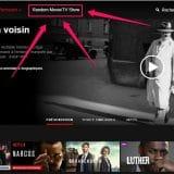 Un programme au hasard dans Netflix