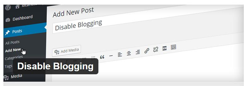 wordpress-disable-bloging