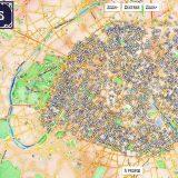 La carte des origines des noms de rues de Paris
