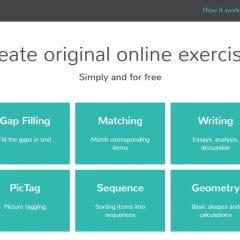 Création de quiz et d'exercices en ligne