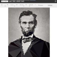 Redessiner une image avec des triangles